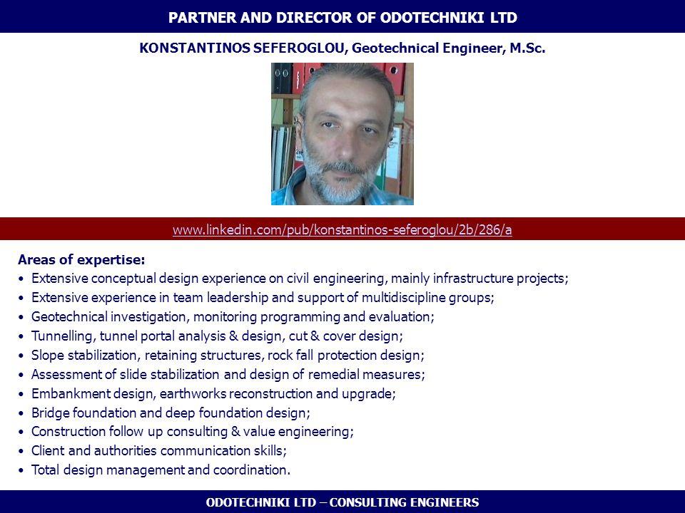 PARTNER AND DIRECTOR OF ODOTECHNIKI LTD