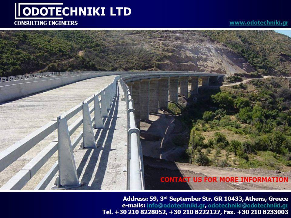 ODOTECHNIKI LTD CONTACT US FOR MORE INFORMATION www.odotechniki.gr