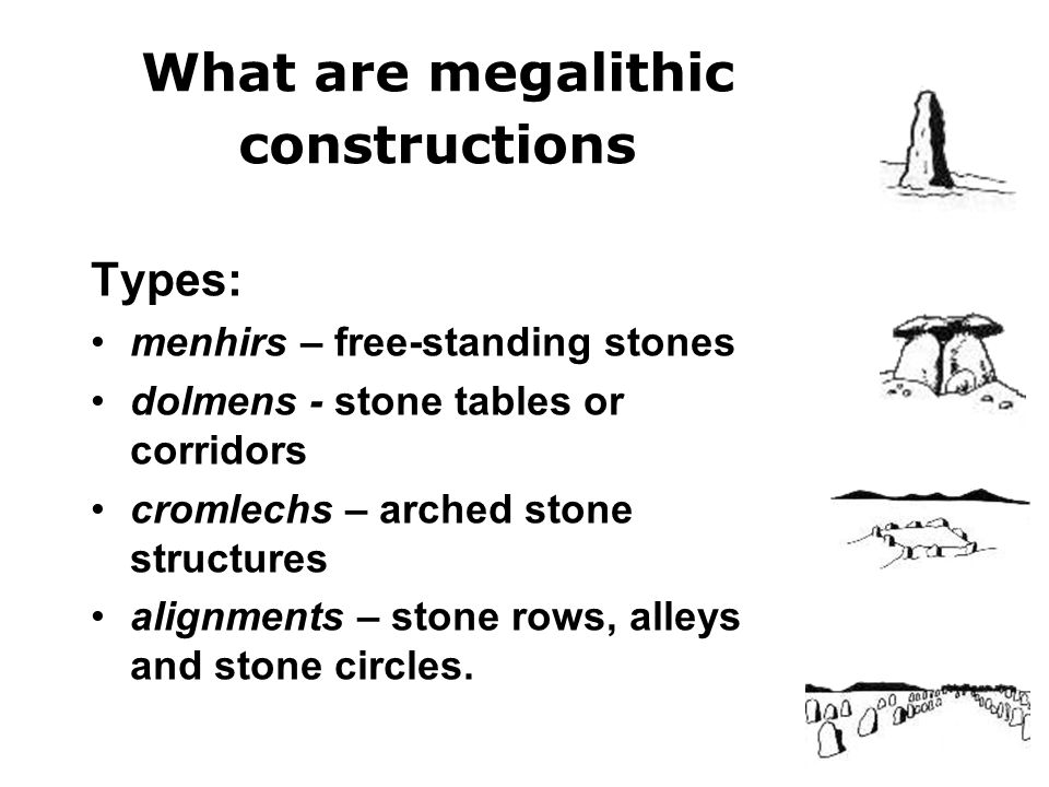 What are megalithic constructions