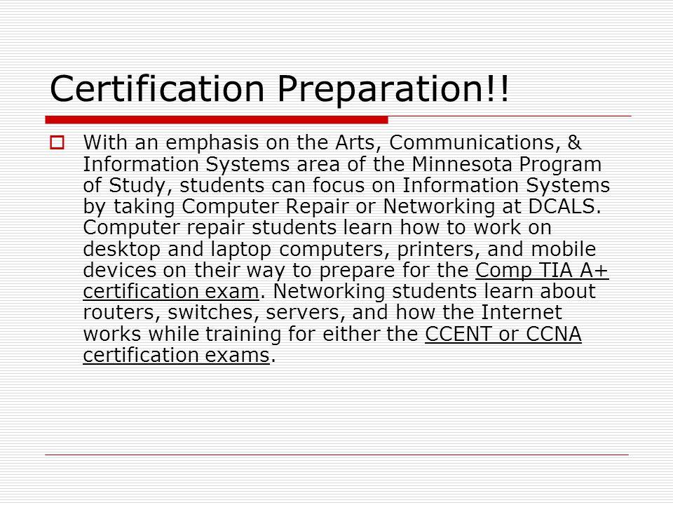 Certification Preparation!!