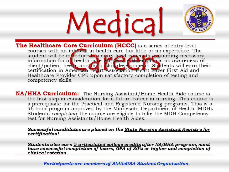 Participants are members of SkillsUSA Student Organization.