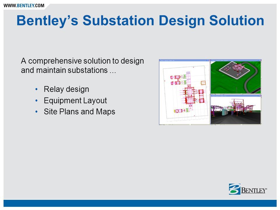 Bentley's Substation Design Solution