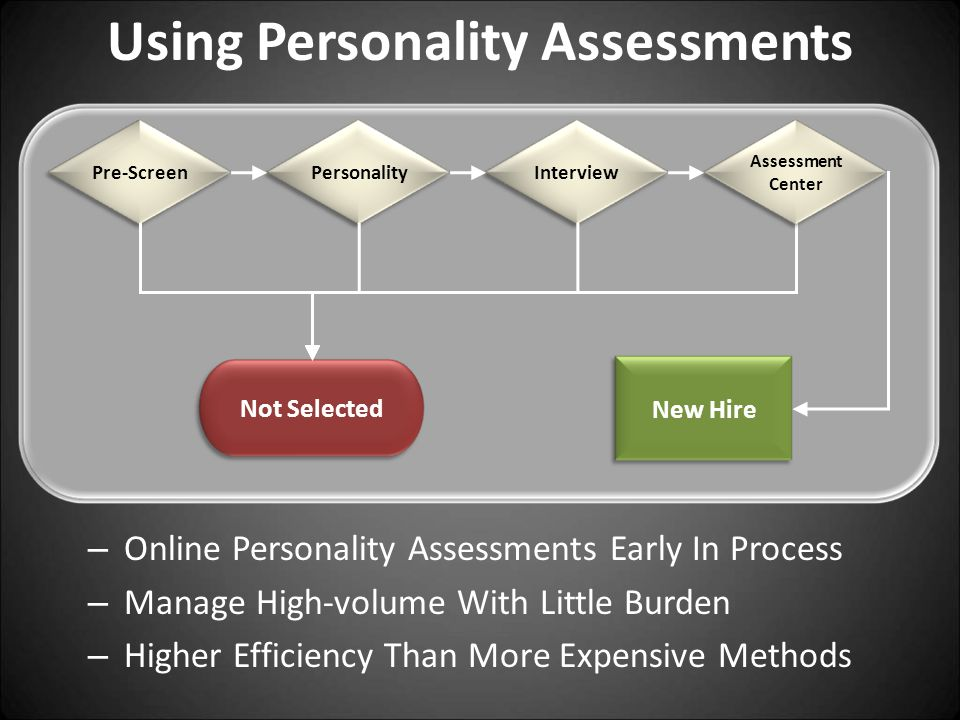 Using Personality Assessments