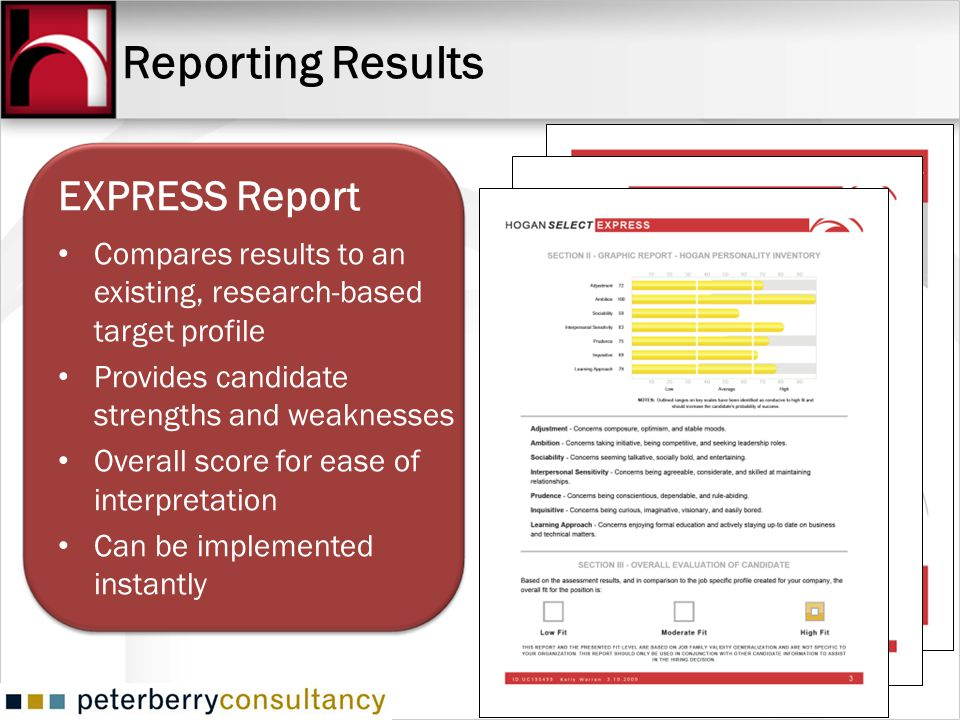 Reporting Results EXPRESS Report