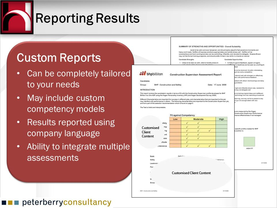 Reporting Results Custom Reports