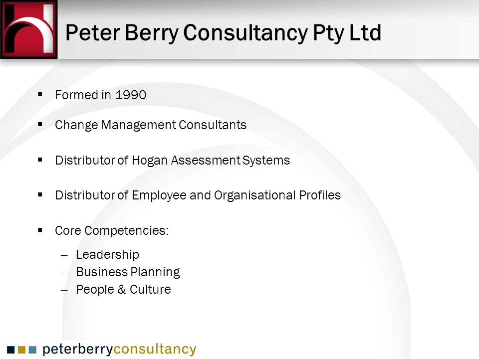 Peter Berry Consultancy Pty Ltd