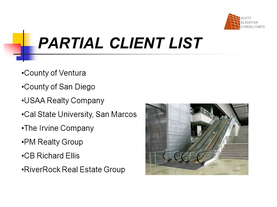 PARTIAL CLIENT LIST County of Ventura County of San Diego