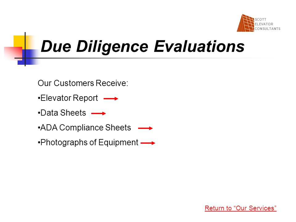 Due Diligence Evaluations