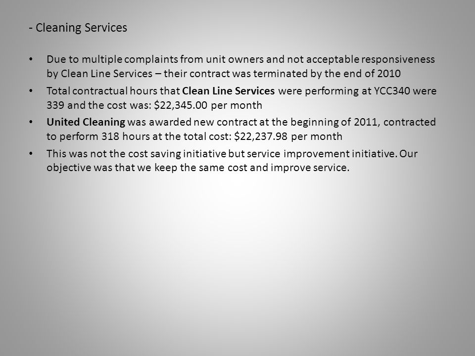 - Cleaning Services