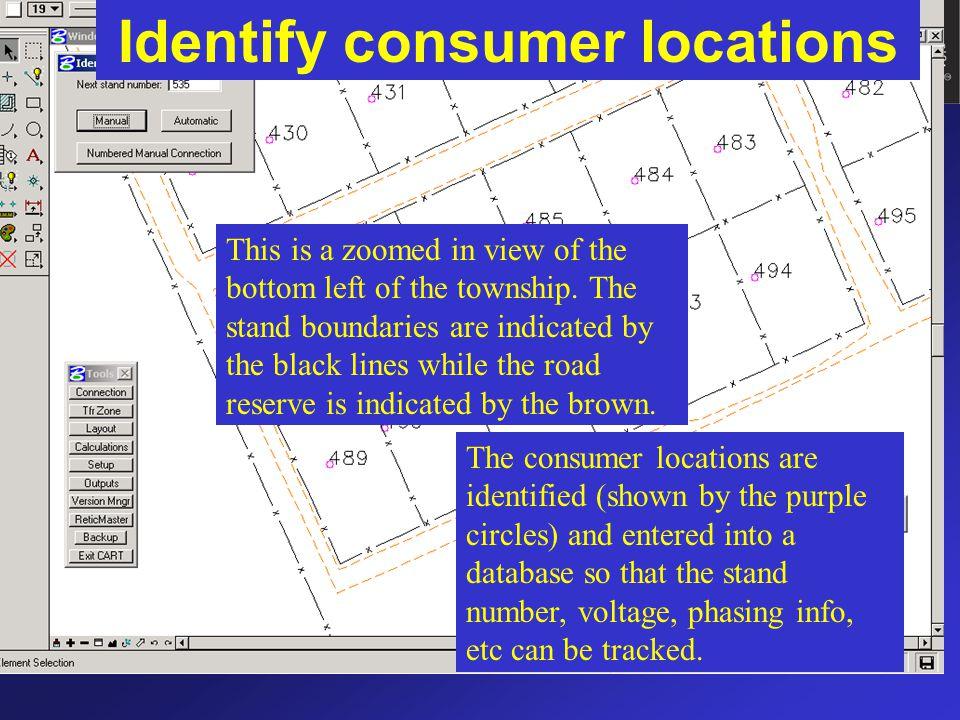 Identify consumer locations