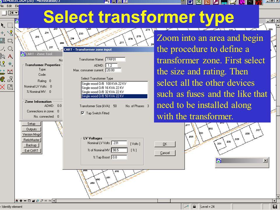 Select transformer type