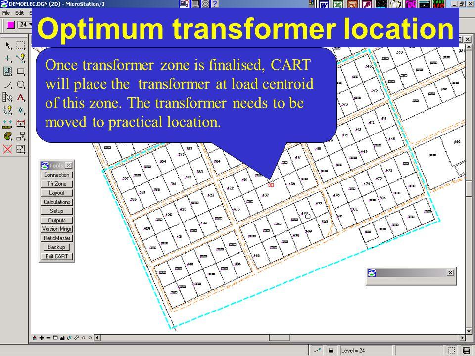 Optimum transformer location