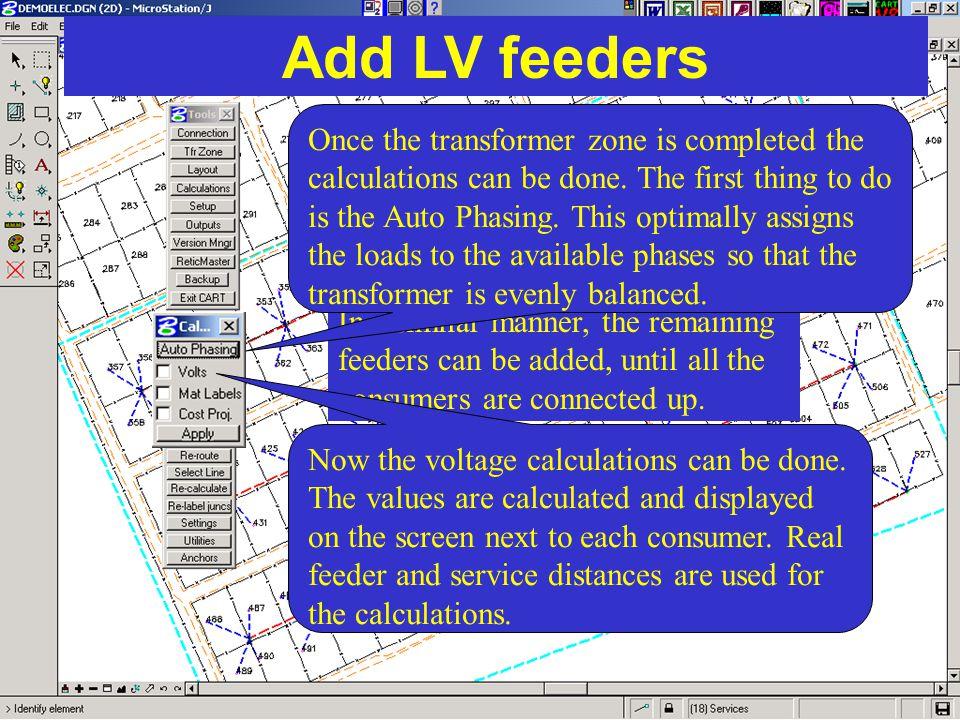Add LV feeders