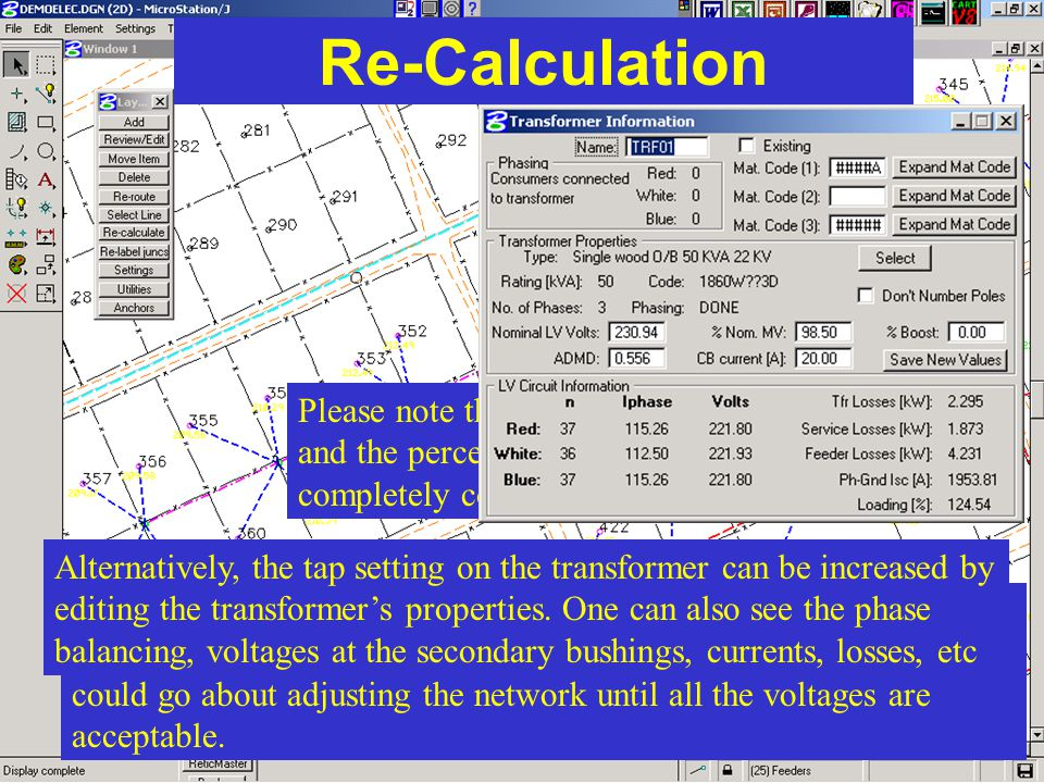 Re-Calculation Please note that the voltage text colours and the percentage tolerances are completely configurable to suit your needs.