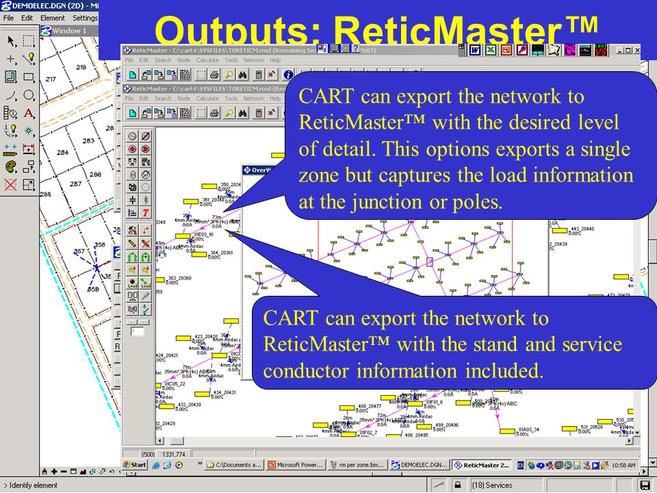 Outputs: ReticMaster™