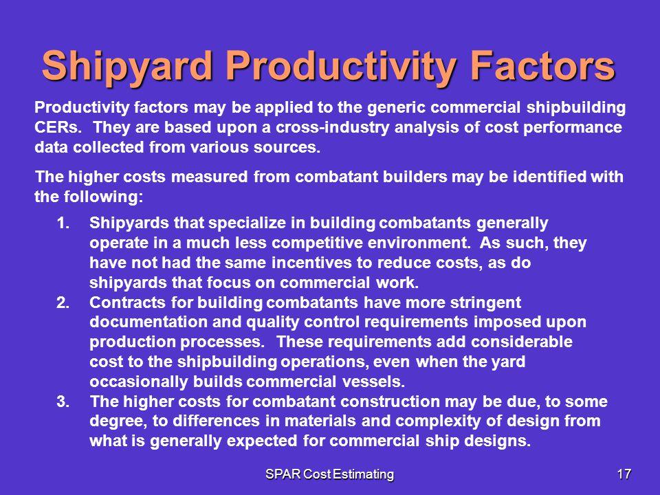Shipyard Productivity Factors