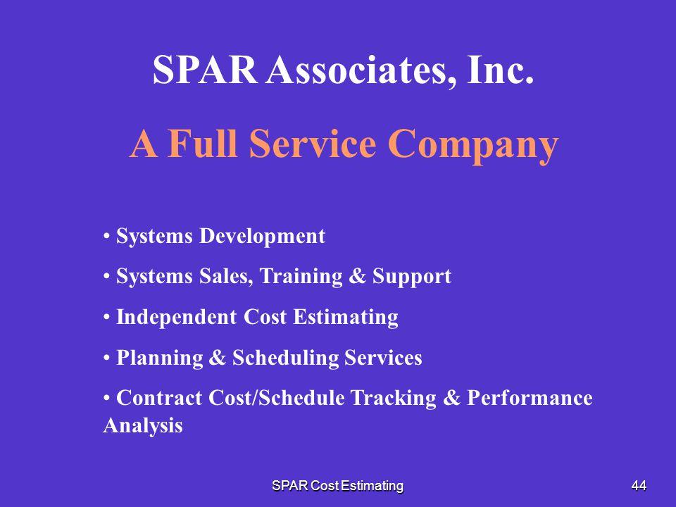 SPAR Associates, Inc. A Full Service Company