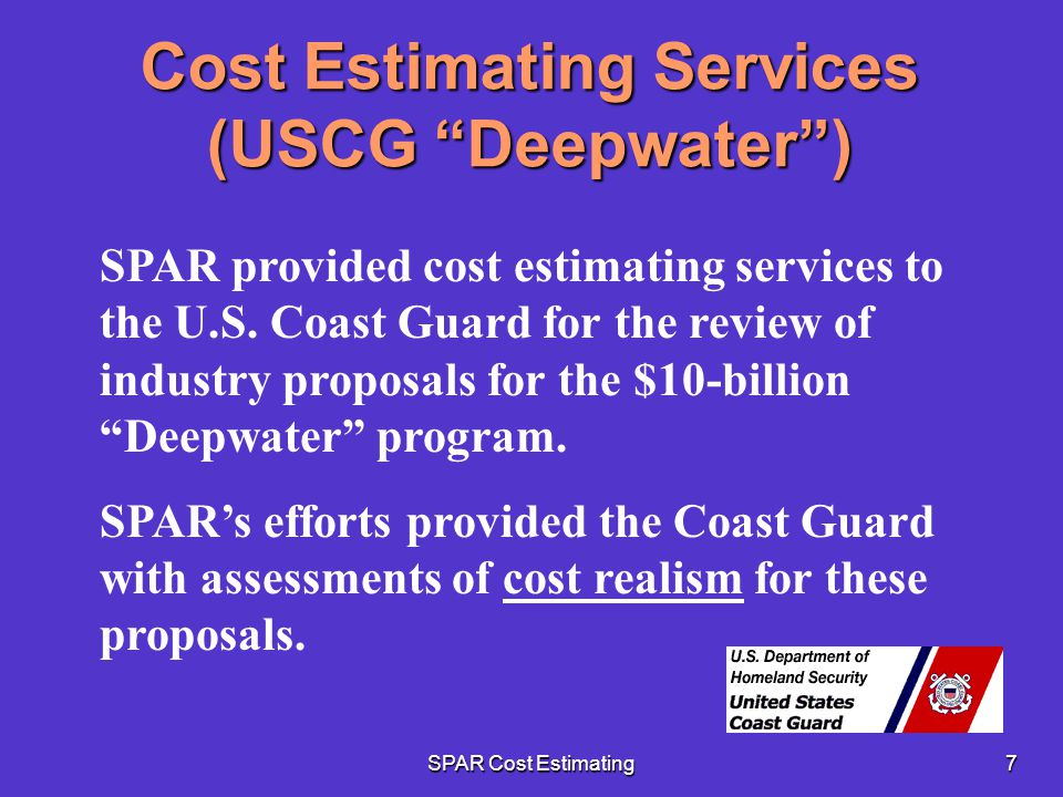 Cost Estimating Services (USCG Deepwater )