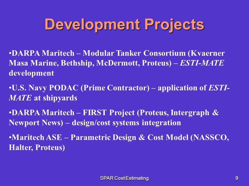 Development Projects DARPA Maritech – Modular Tanker Consortium (Kvaerner Masa Marine, Bethship, McDermott, Proteus) – ESTI-MATE development.