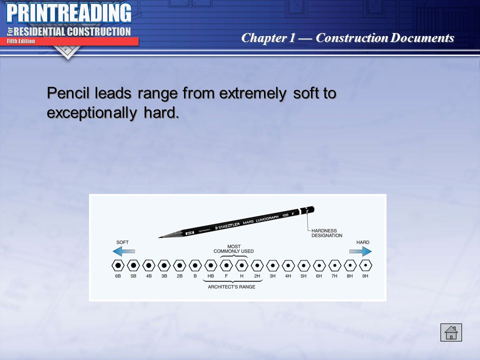 Pencil leads range from extremely soft to exceptionally hard.