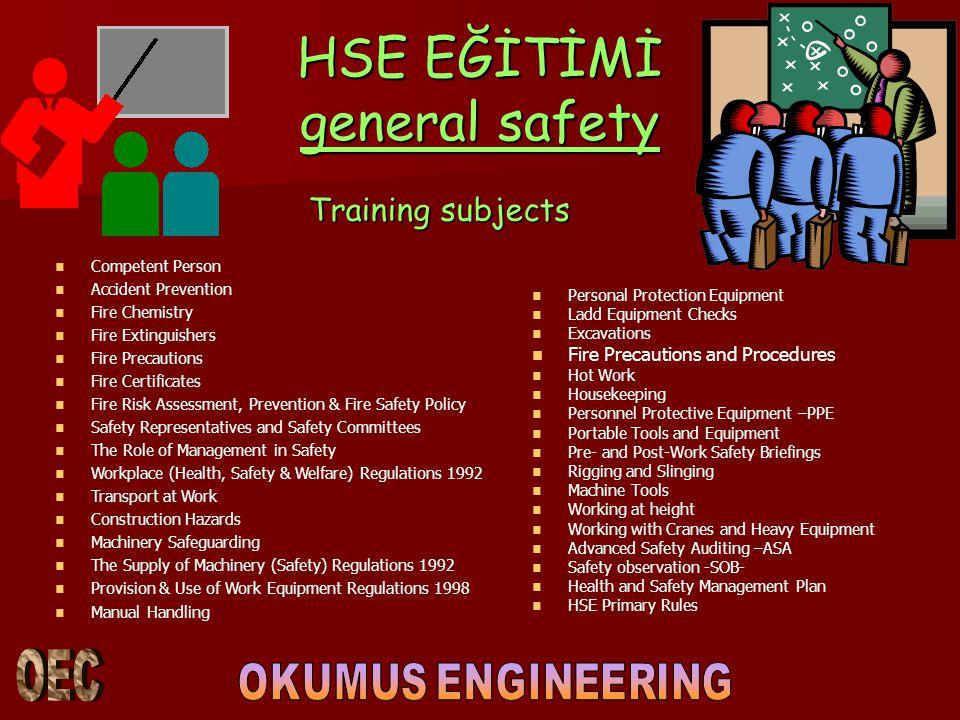 HSE EĞİTİMİ general safety