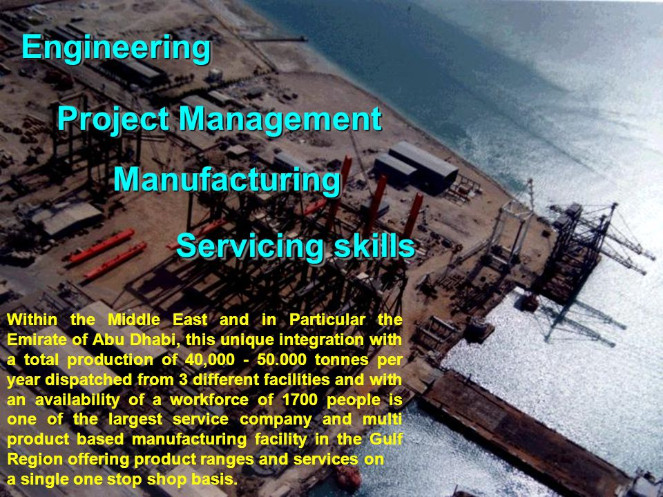 Engineering Manufacturing Servicing skills