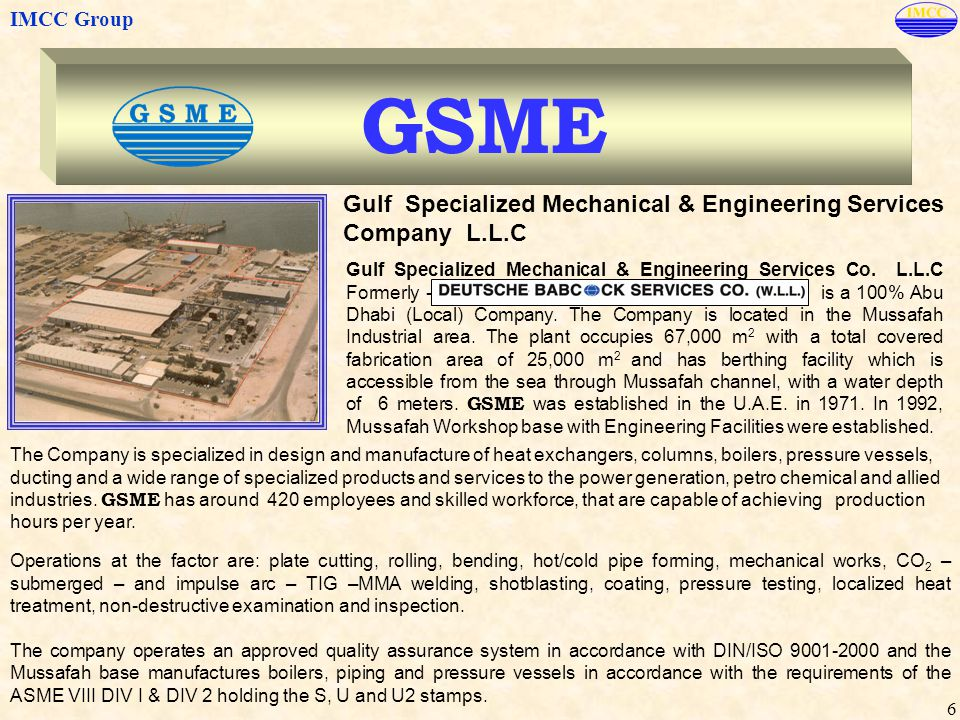 GSME Gulf Specialized Mechanical & Engineering Services Company L.L.C