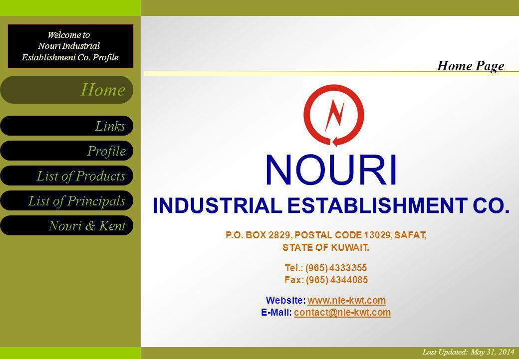 NOURI INDUSTRIAL ESTABLISHMENT CO. Home Page