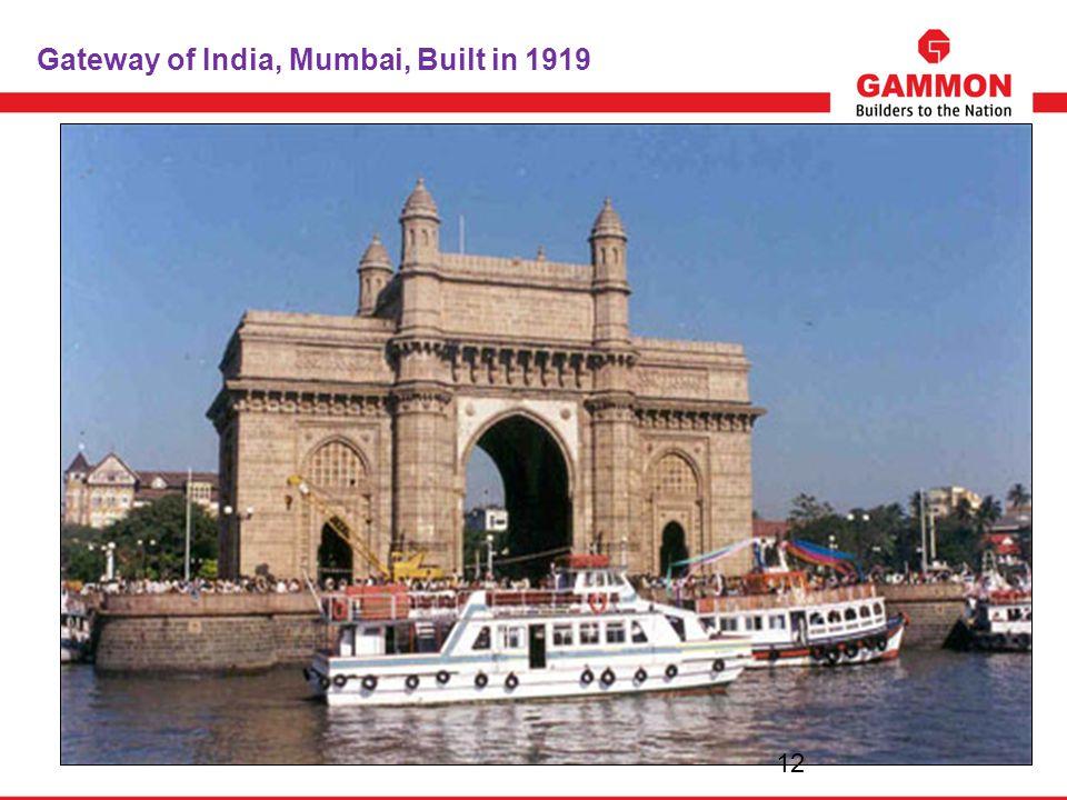 Gateway of India, Mumbai, Built in 1919