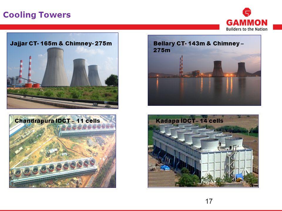Cooling Towers Jajjar CT- 165m & Chimney- 275m