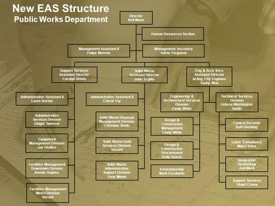 New EAS Structure Public Works Department