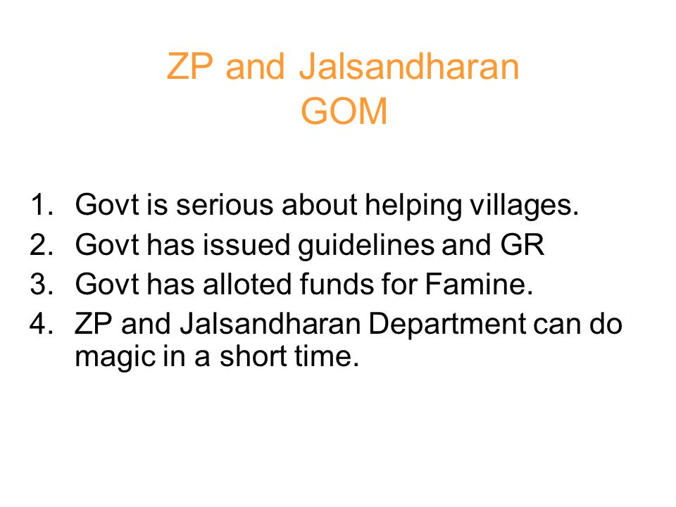 ZP and Jalsandharan GOM