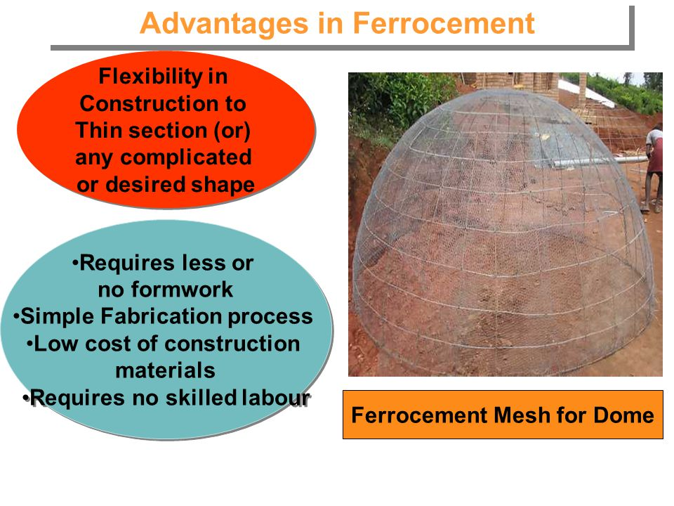 Advantages in Ferrocement
