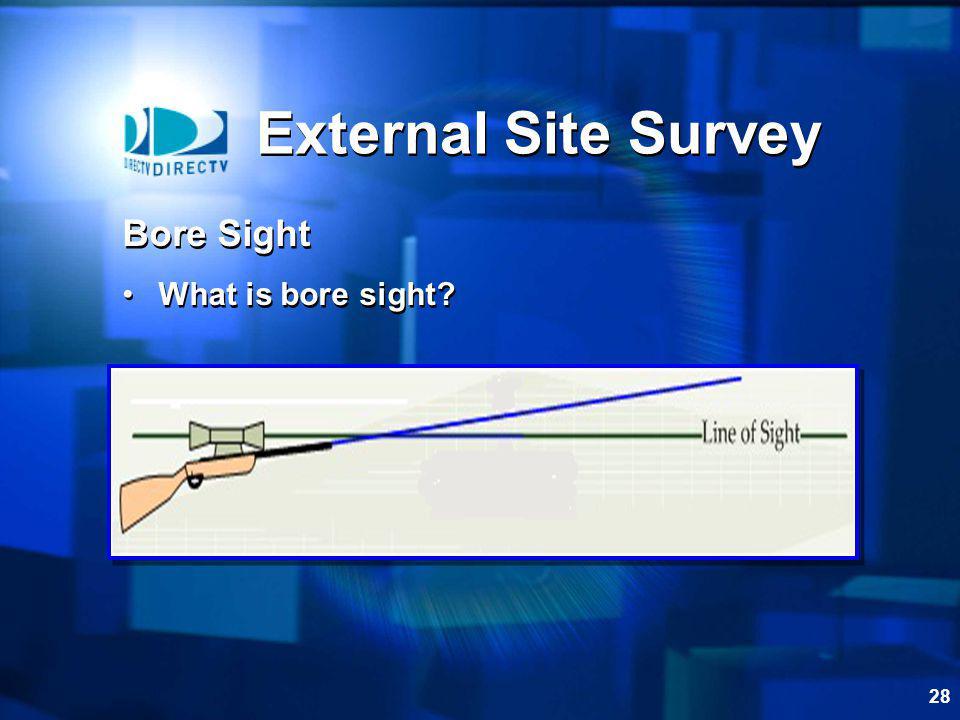 External Site Survey Bore Sight What is bore sight