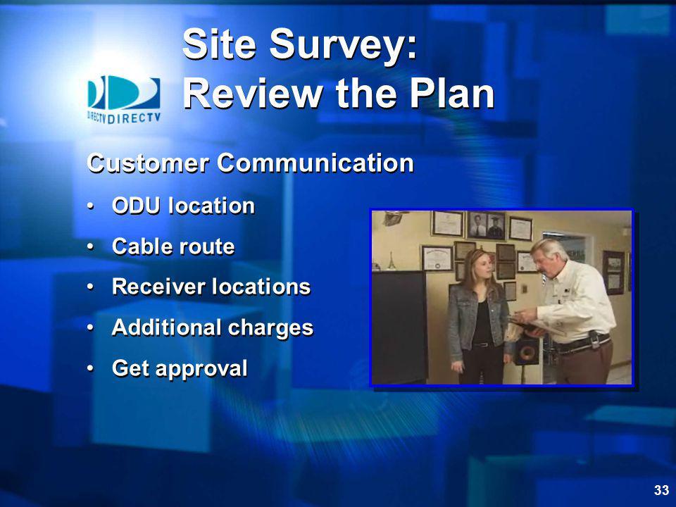 Site Survey: Review the Plan