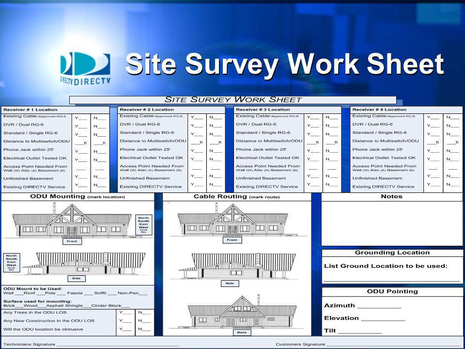Site Survey Work Sheet