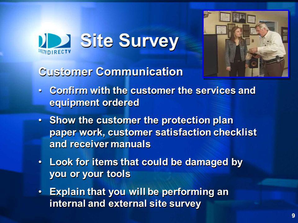 Site Survey Customer Communication
