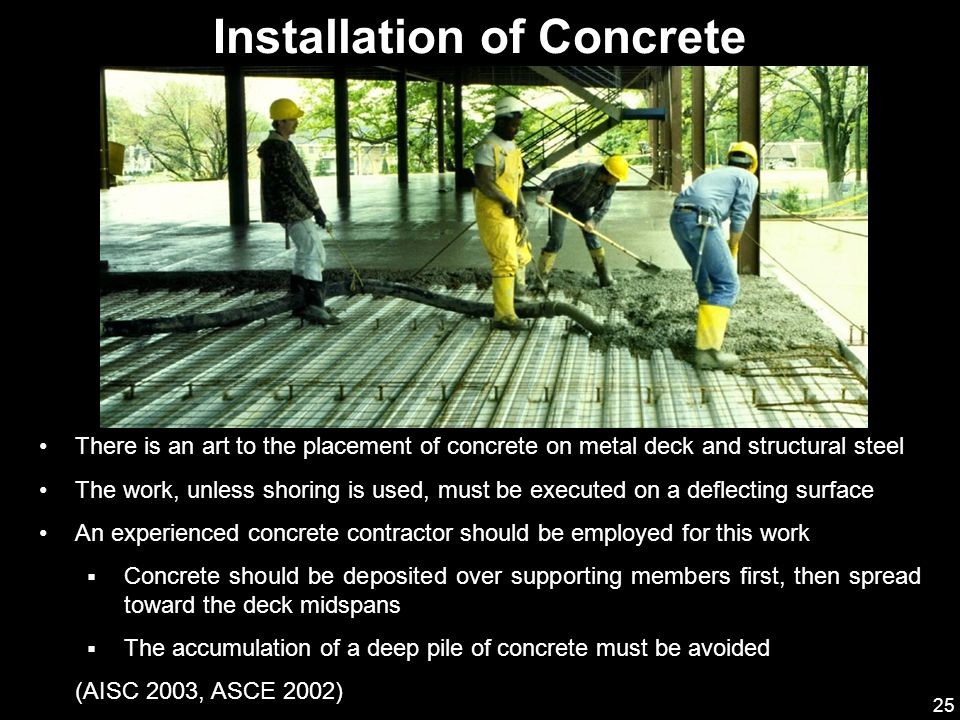 Installation of Concrete