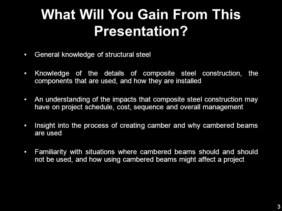 What Will You Gain From This Presentation