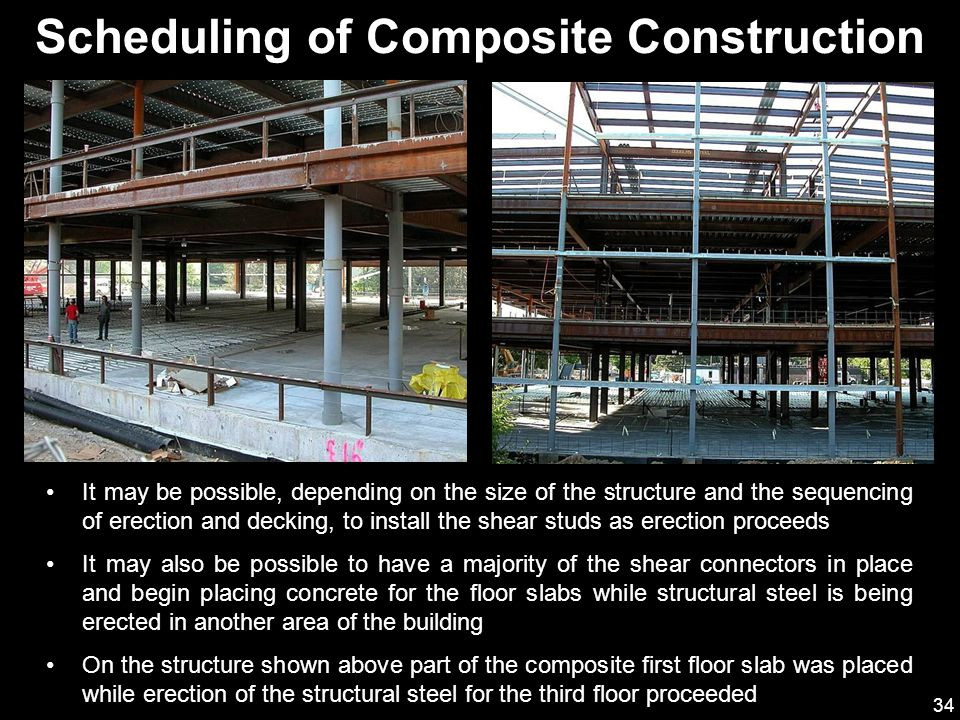 Scheduling of Composite Construction