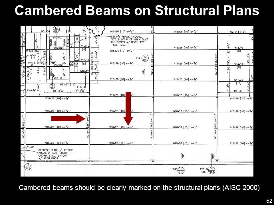 Cambered Beams on Structural Plans