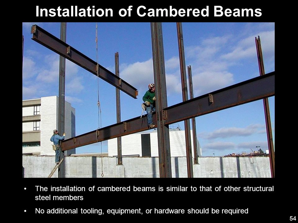 Installation of Cambered Beams