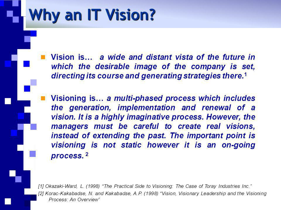 Why an IT Vision