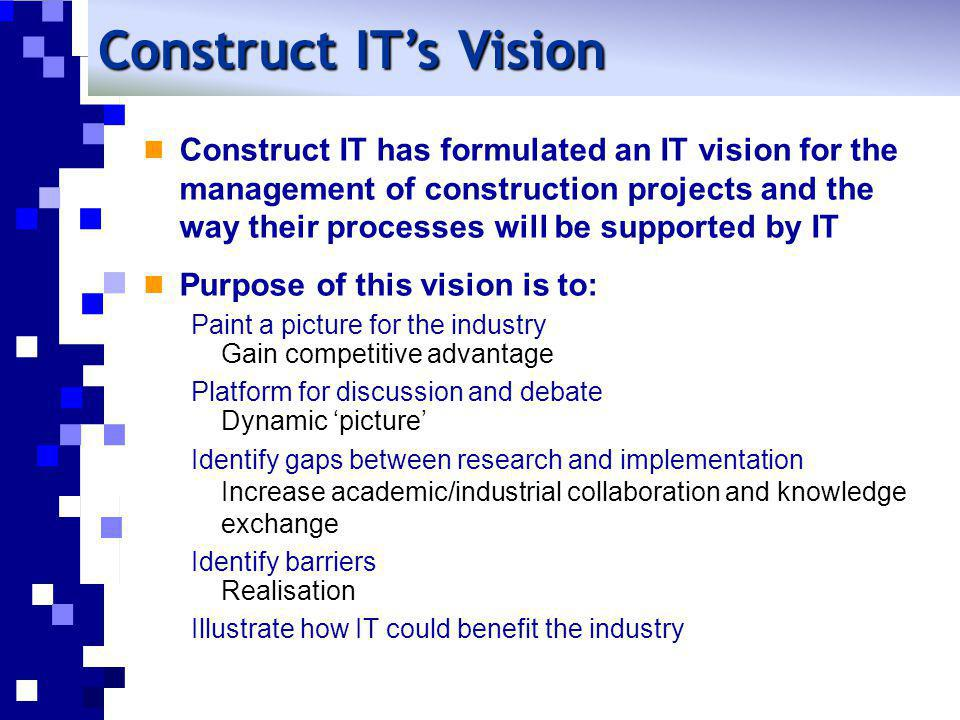 Construct IT's Vision
