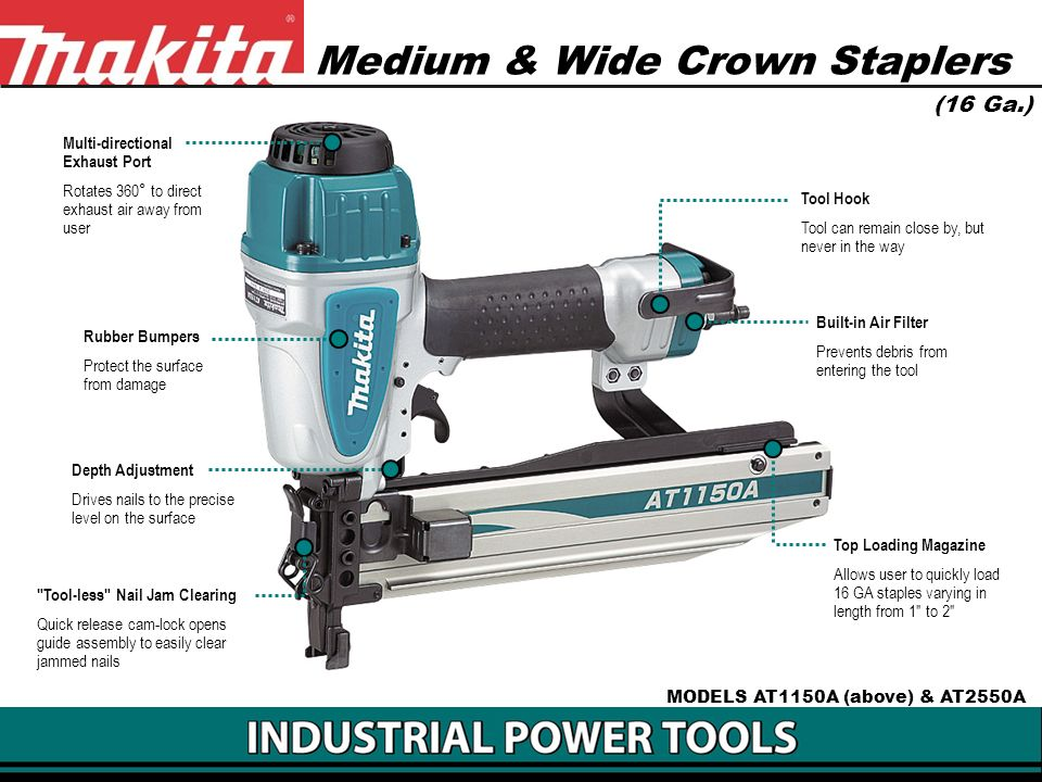 Medium & Wide Crown Staplers