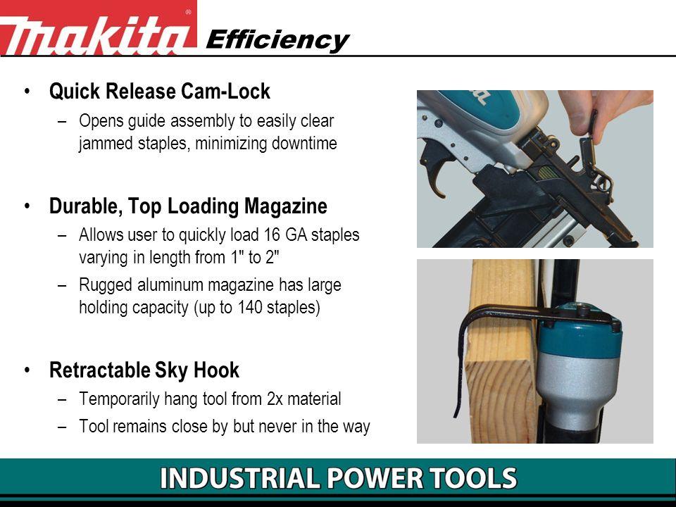 Efficiency Quick Release Cam-Lock Durable, Top Loading Magazine