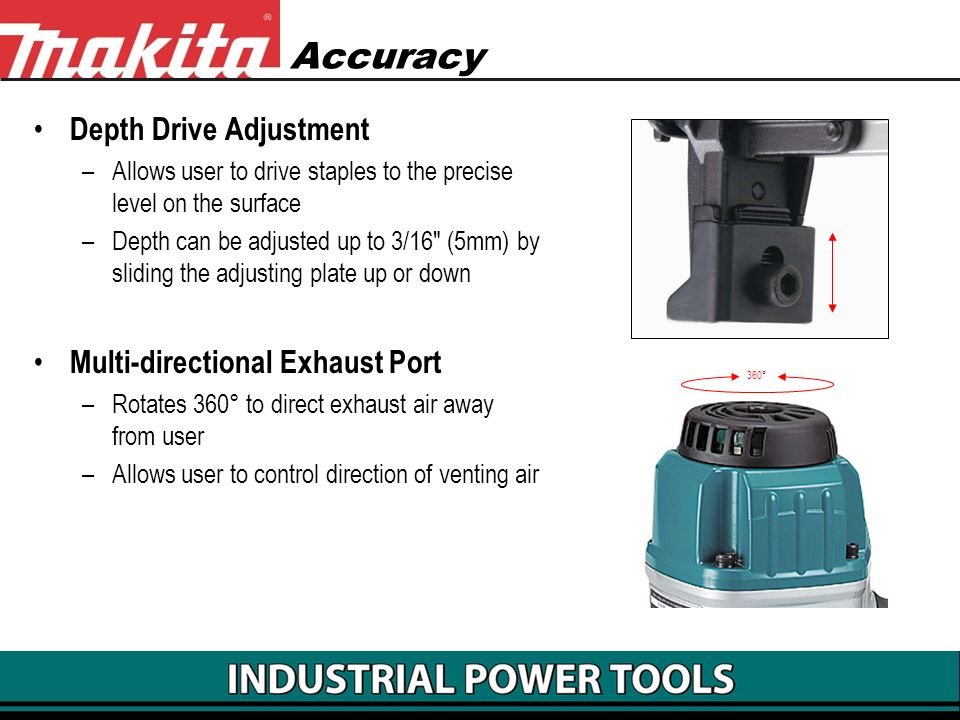 Accuracy Depth Drive Adjustment Multi-directional Exhaust Port
