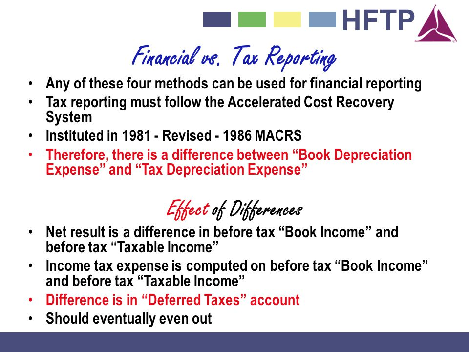 Financial vs. Tax Reporting