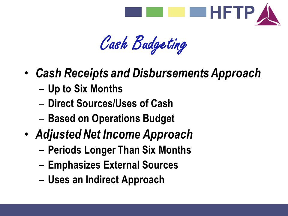 Cash Budgeting Cash Receipts and Disbursements Approach