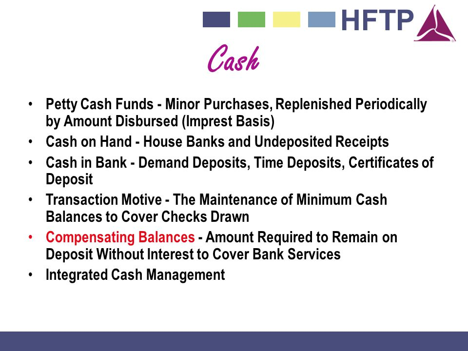 Cash Petty Cash Funds - Minor Purchases, Replenished Periodically by Amount Disbursed (Imprest Basis)